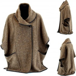 Cape Manteau Laine Ample Grande Taille 40/54 - MAURICE  - Femme - CharlesElie94