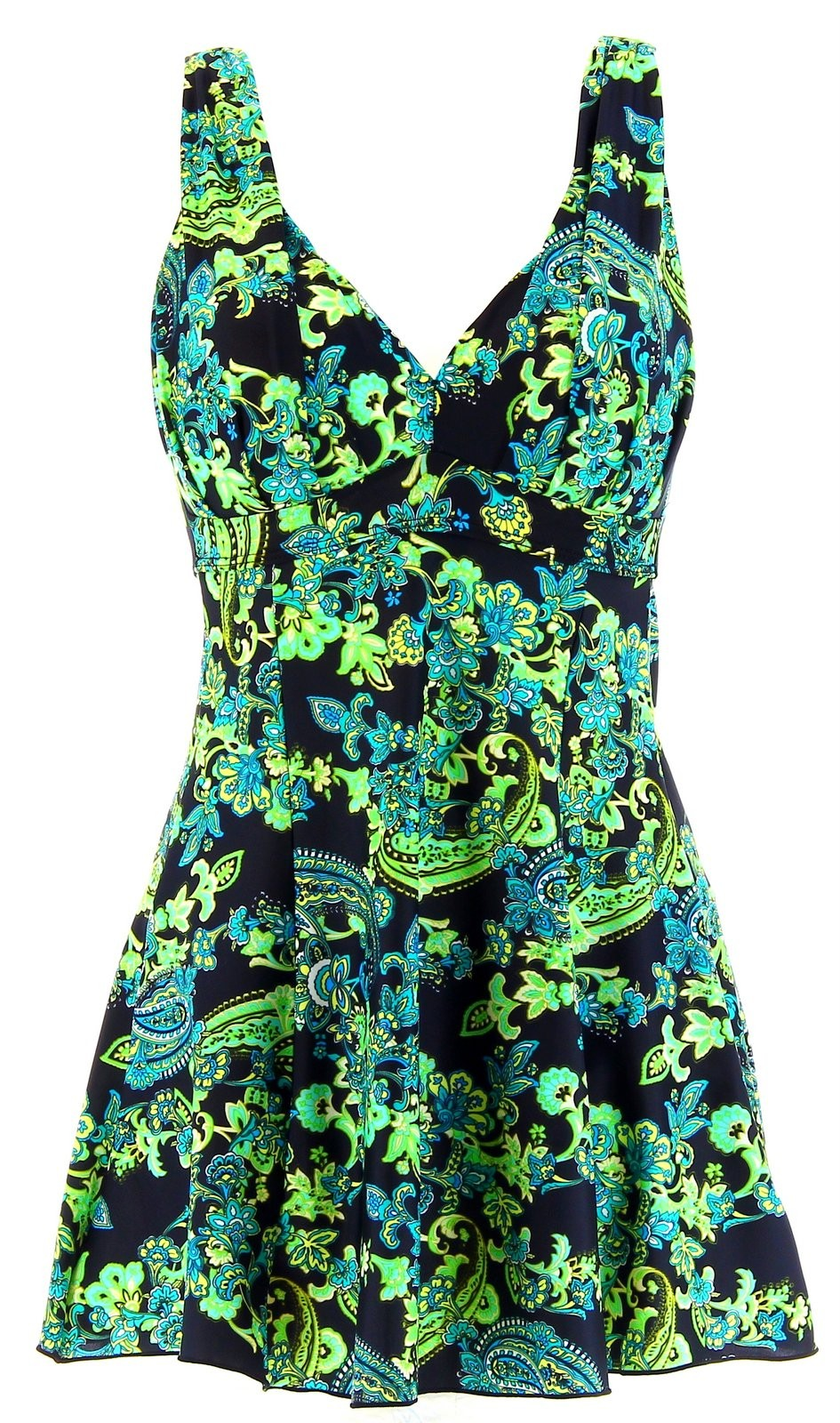 maillot de bain 1 pi ce robe jupette fleurs dalhia grande taille. Black Bedroom Furniture Sets. Home Design Ideas