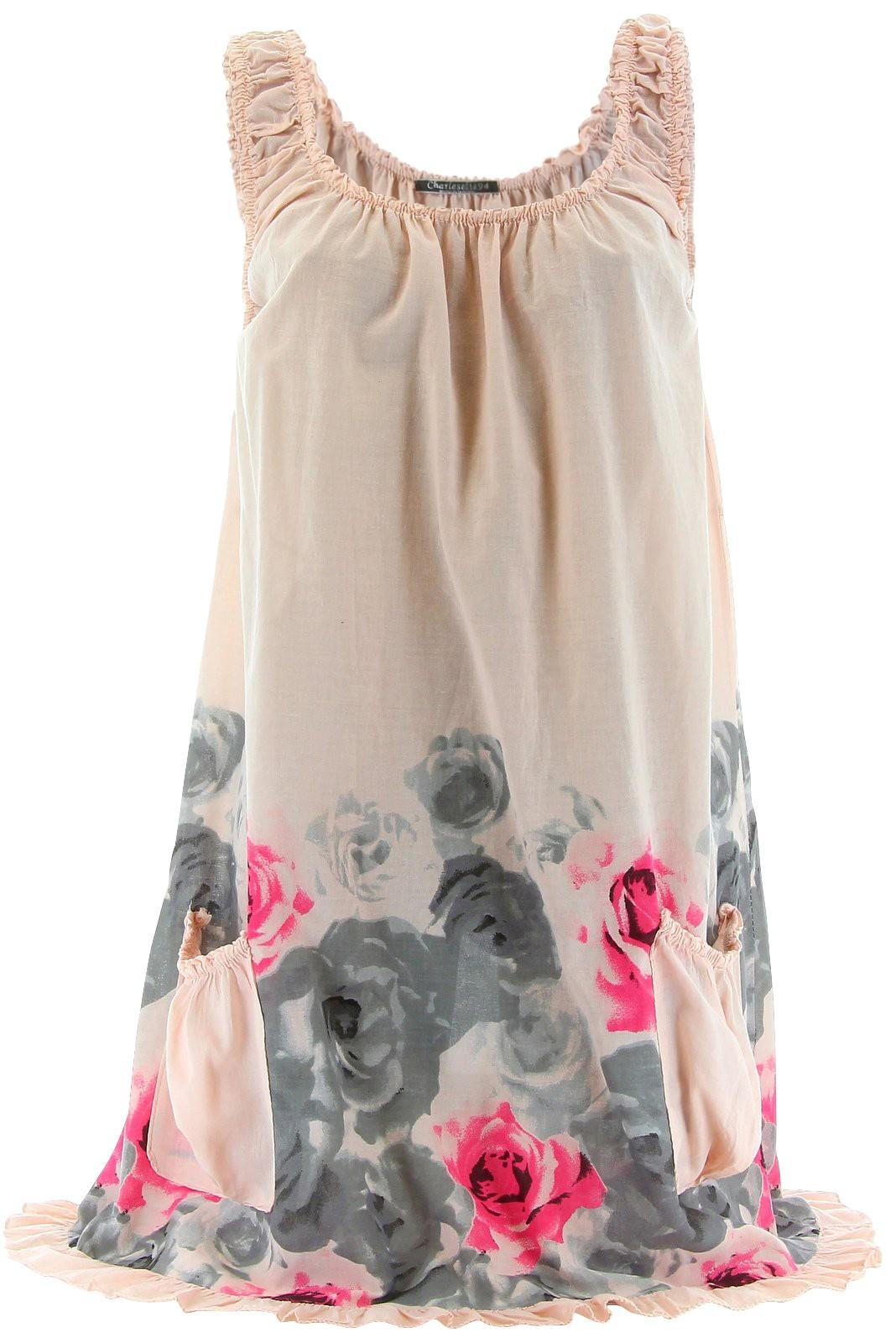 robe tunique t coton rosanna boh me fleurs. Black Bedroom Furniture Sets. Home Design Ideas