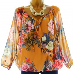 blouse tunique CLARISSA moutarde
