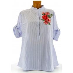 chemise tunique ample brodée bohème grande taille ANITA