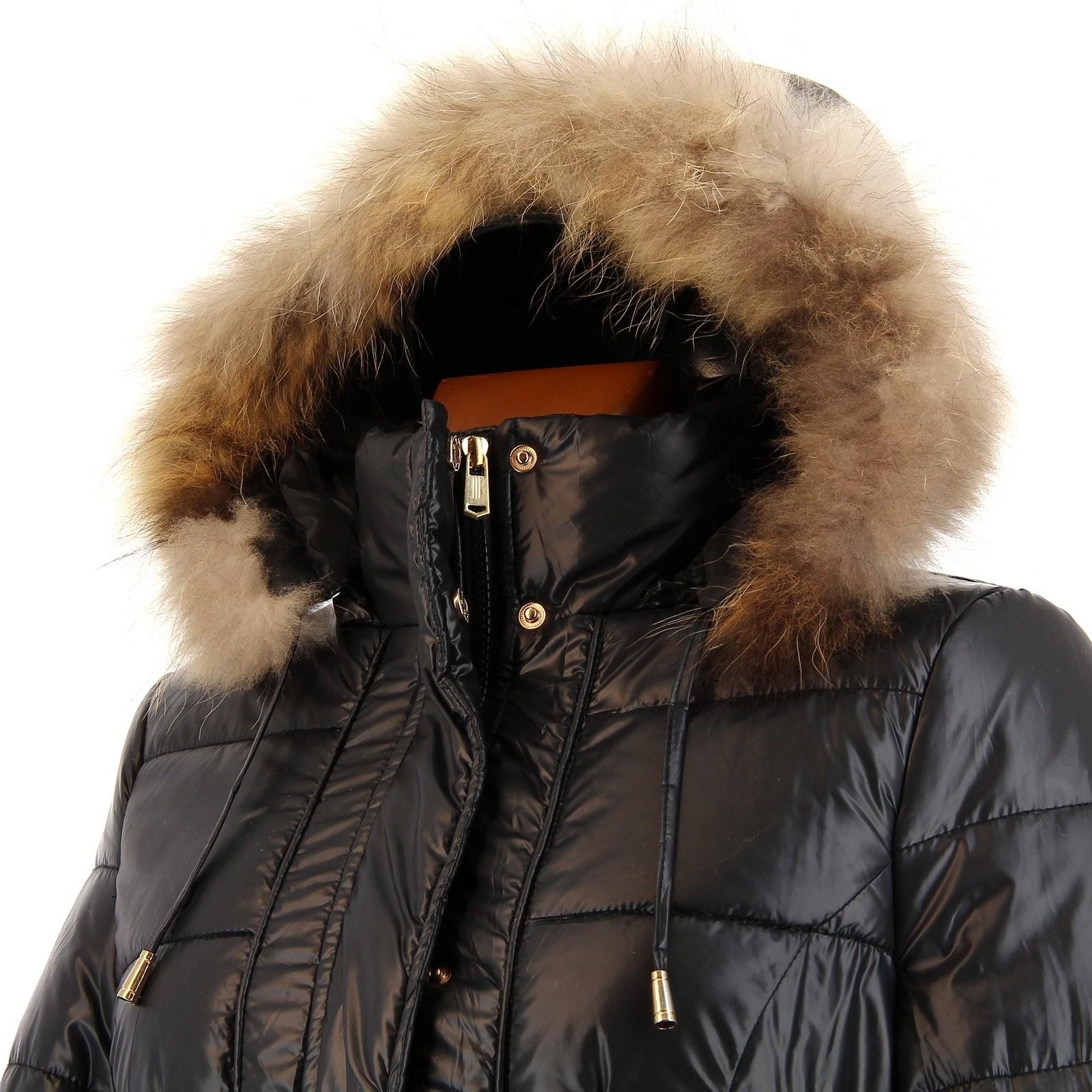 Doudoune longue fourrure manteau parka capuche axelle noir - Doudoune homme longue capuche fourrure ...