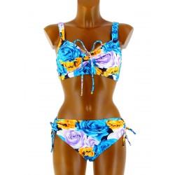 Maillot de Bain Bikini Push Up Sexy 44/52 - ANNICK -bleu