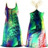Robe Graphique Sexy Dos nu Bijoux  - ZENABA -