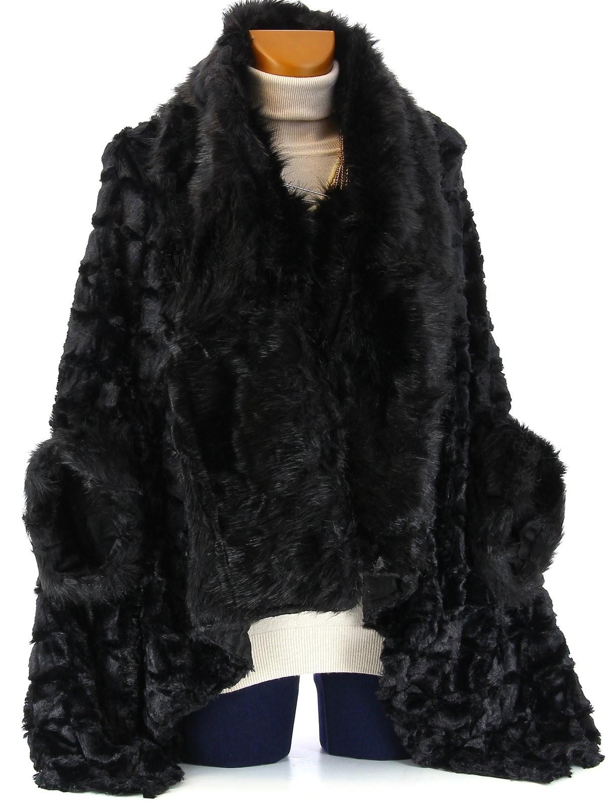 manteau poncho cape femme noir manteaux populaires et. Black Bedroom Furniture Sets. Home Design Ideas