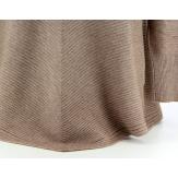 Pull tunique ample trapèze  taupe 36/46  MAXIME femme