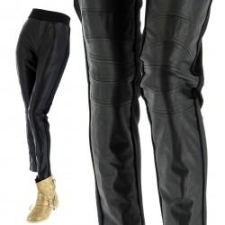 Pantalon Leggings Slim Cuir Grande Taille 40/52 - THERESE - Femme -CharlesElie94