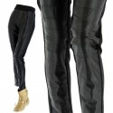 Pantalon leggings slim Cuir taille haute  grande taille THERESE
