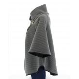 Cape veste manteau grande taille ample Gris MATILDA