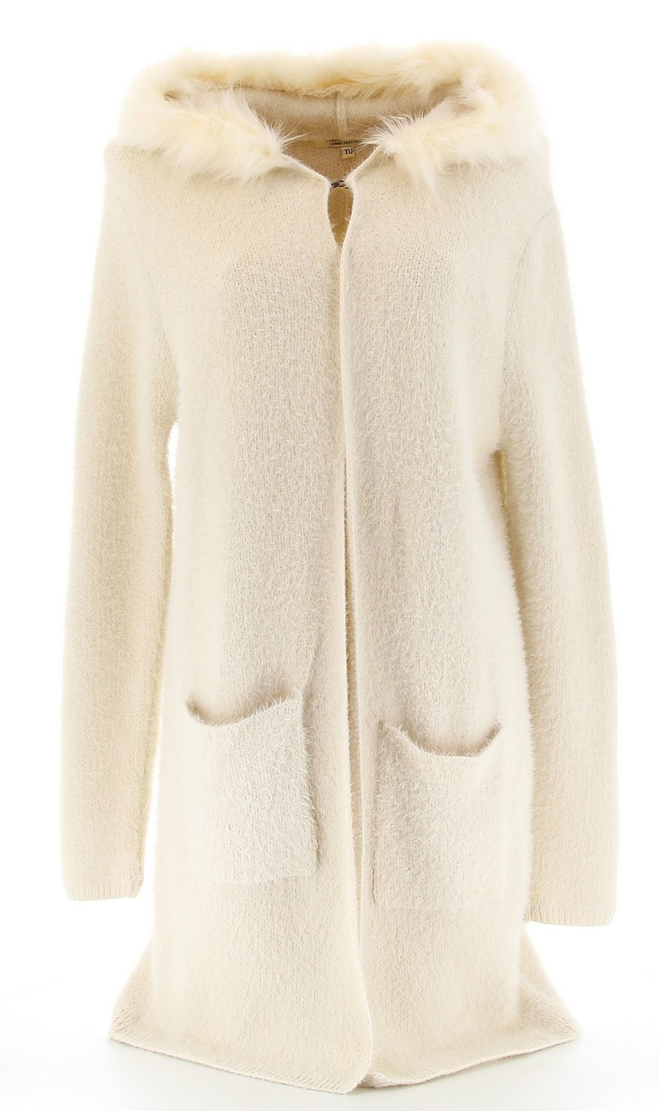 ba5aa06bc276 Gilet laine fourrure femme gilet manteau grosse maille femme