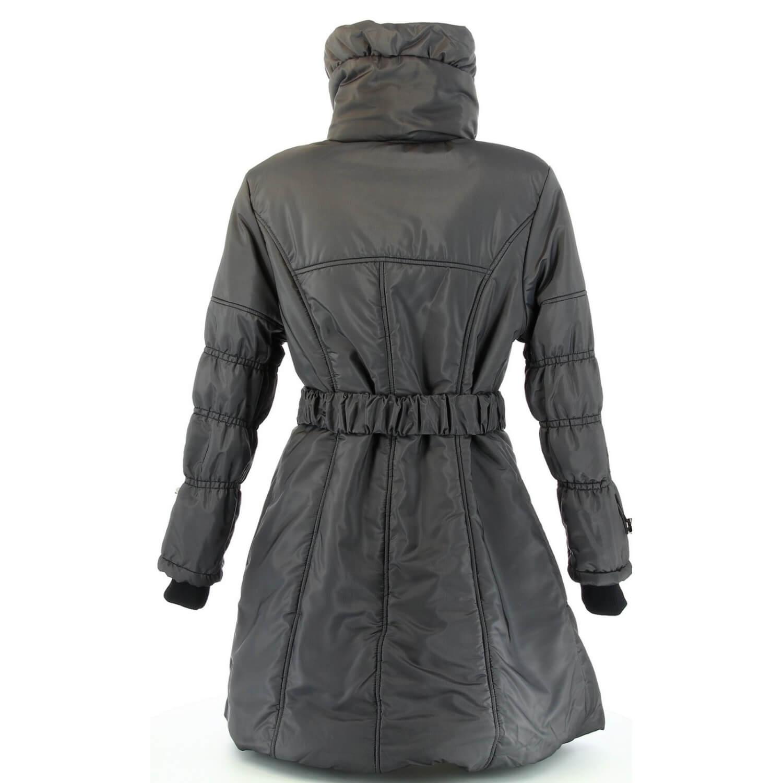 d422fca7f7fc5 Doudoune Longue Manteau 44 54 Gris couture - ULYSSE - Femme -