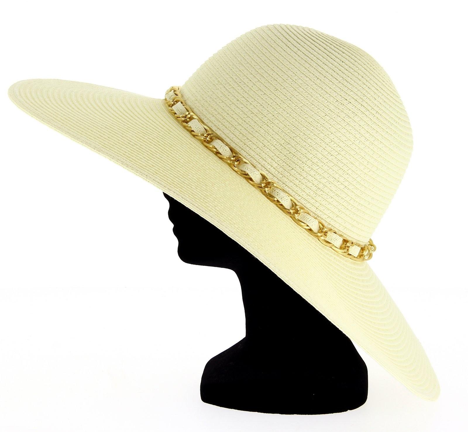 chapeau capeline paille logan femme c r monie et beige. Black Bedroom Furniture Sets. Home Design Ideas