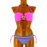 Maillot de bain Bikini  - POCAHONTAS - Bandeau Push up Bijoux  Violet