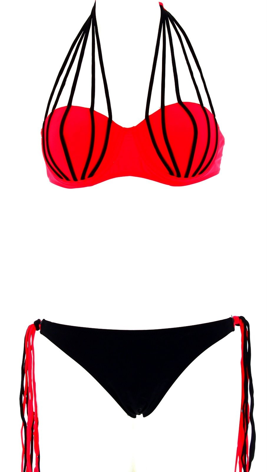 maillot de bain bikini ficella push up couture sexy rouge corai. Black Bedroom Furniture Sets. Home Design Ideas