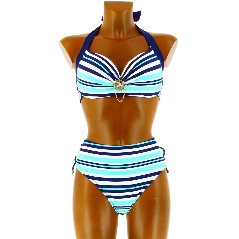 501e19846d3a Maillot de Bain Bikini Grande taille - MOOREA -Marin Vert