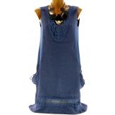 robe lin CECILIA rouge