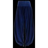 Pantalon bouffant jean yoga ample brodé grande taille - JUPITER -  élastiqué