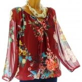 blouse tunique CLARISSA bordeaux