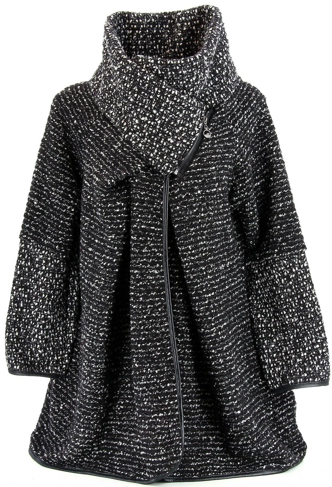 manteau cape laine bouillie hiver grande taille noir violetta. Black Bedroom Furniture Sets. Home Design Ideas