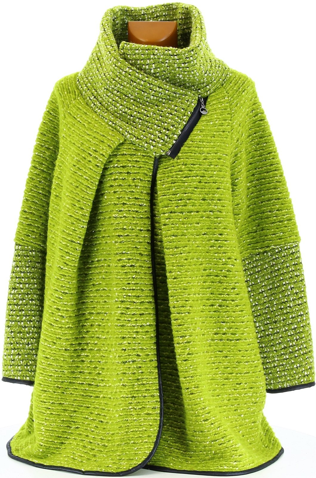 manteau cape laine bouillie hiver grande taille vert. Black Bedroom Furniture Sets. Home Design Ideas