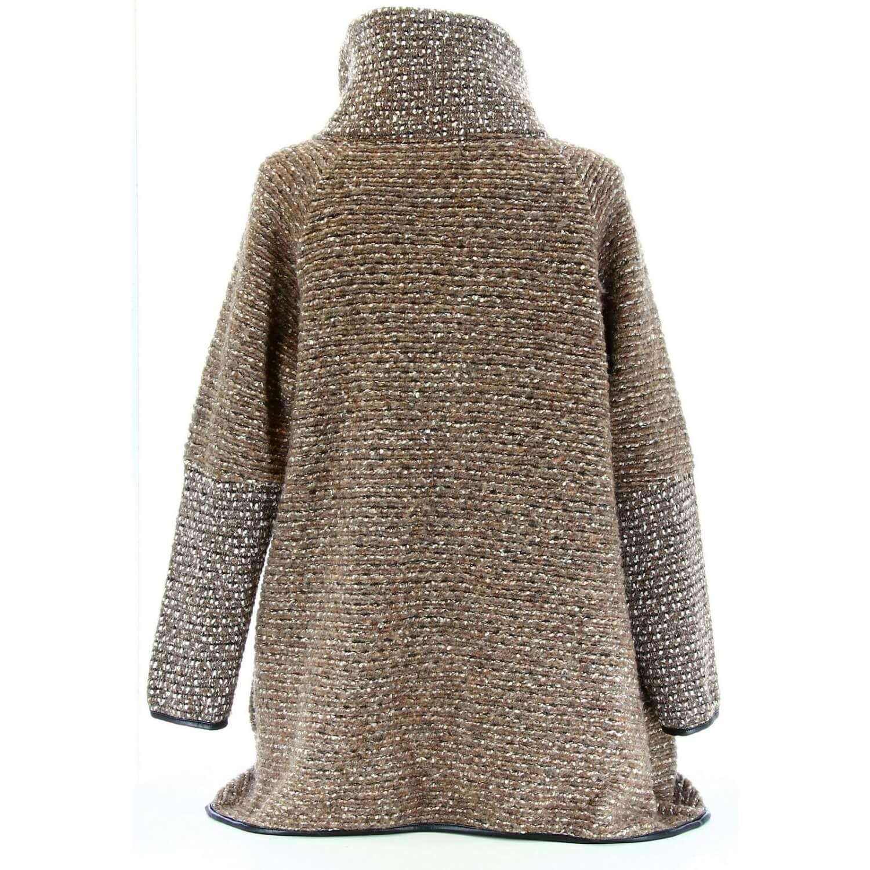 Manteau cape laine bouillie hiver grande taille taupe VIOLETTA 09f339205d32