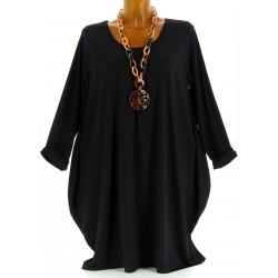 Robe Tunique boule Jersey Grande Taille  noir   OLIVE