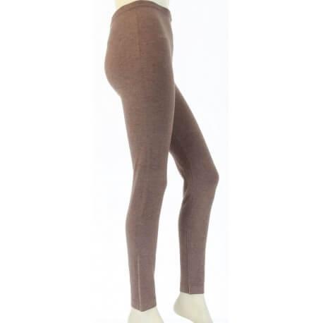 Leggings laine lycra hiver caleçon pantalon taupe   LAURENT