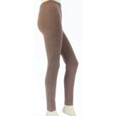 Leggings laine lycra hiver caleçon LAURENT Taupe Legging femme