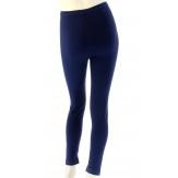 Leggings laine lycra hiver caleçon pantalon bleu marine   LAURENT