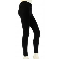 Leggings laine lycra hiver caleçon pantalon noir   LAURENT
