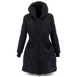 Doudoune longue manteau grande taille AMELIE Noire Manteau hiver