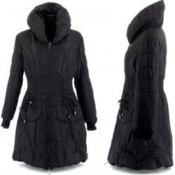 Taille Longue Hiver Grande Amelie Doudoune Manteau Noire xdCeBo