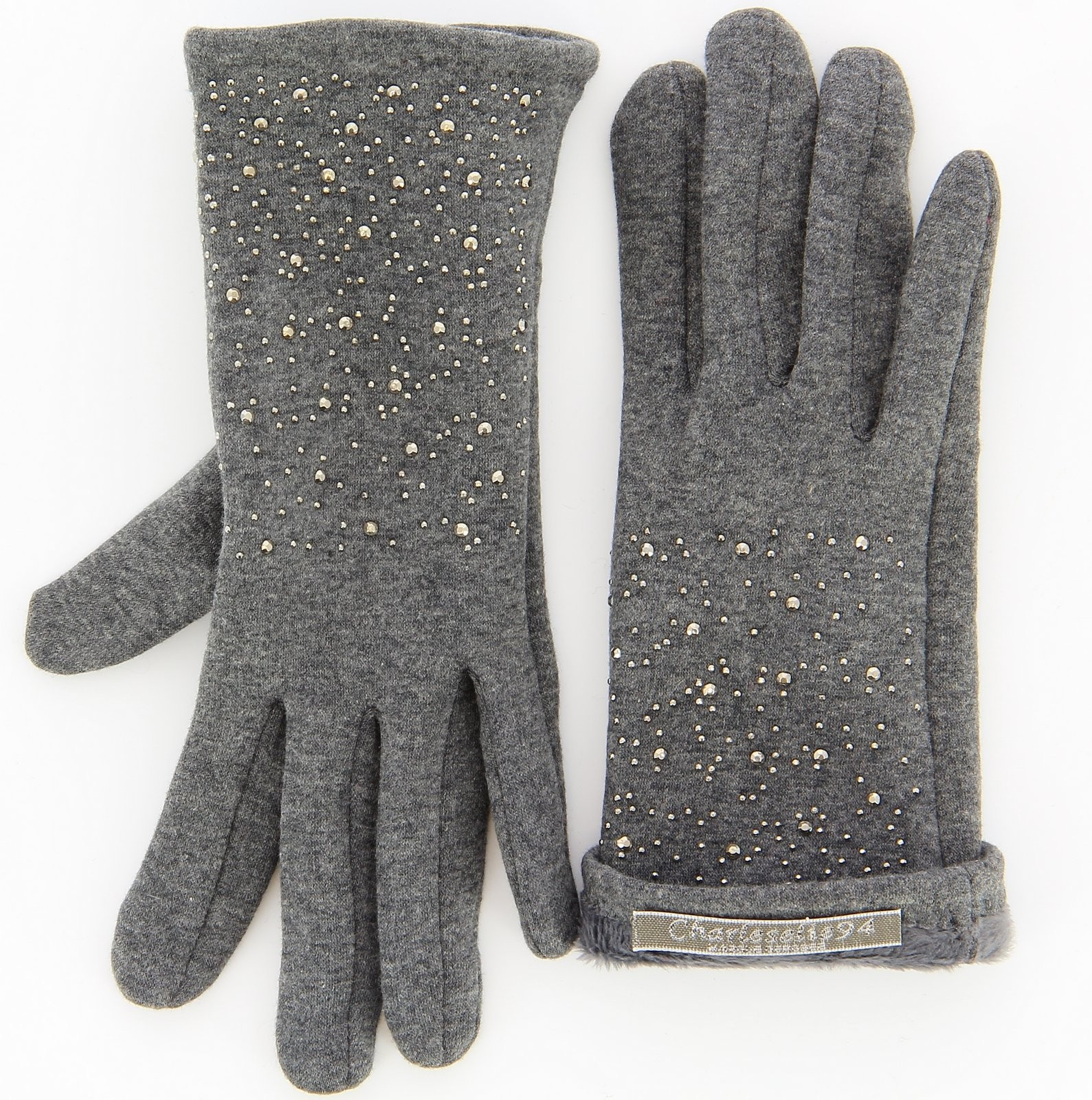 gants femme hiver polaire tactiles gris basile. Black Bedroom Furniture Sets. Home Design Ideas