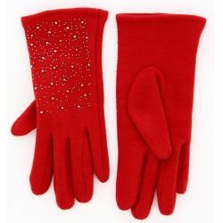 Gants femme hiver polaire rouge BASILE