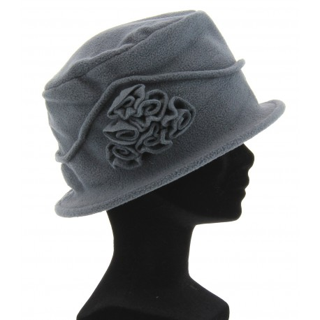 Bonnet chapeau cloche hiver polaire gris CASTOR