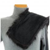 Col écharpe étole fausse fourrure noir MERLIN