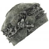 Bonnet femme laine bouillie hiver léopard gris ARNOLD