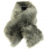 Col écharpe étole fausse fourrure gris MERLIN