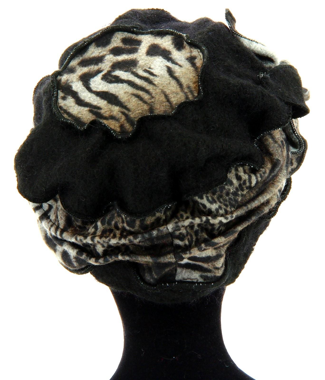 bonnet femme laine bouillie hiver l opard noir arnold. Black Bedroom Furniture Sets. Home Design Ideas