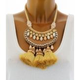 Gros collier fantaisie luxe ethnique bohème SEVILLE