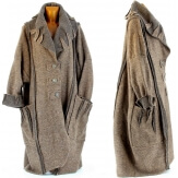 Manteau long hiver laine bouillie grande taille femme taupe KARLA