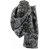 écharpe étole plaid cape hiver XXL noir gris mprimés graphiques THOMAS