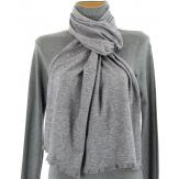 écharpe étole en laine hiver gris MICHELE