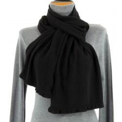 écharpe étole en laine hiver noir MICHELE
