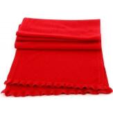 écharpe étole en laine hiver rouge MICHELE