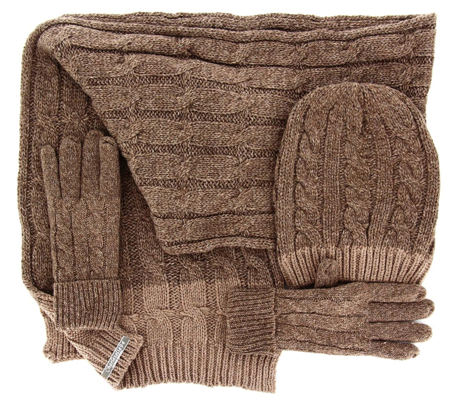 pack charpe longue bonnet gants laine homme femme hiver taupe damien. Black Bedroom Furniture Sets. Home Design Ideas