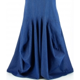 Robe longue ample bohème jean asymétrique VANOU