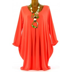 Robe Tunique boule Jersey Grande Taille corail OLIVE