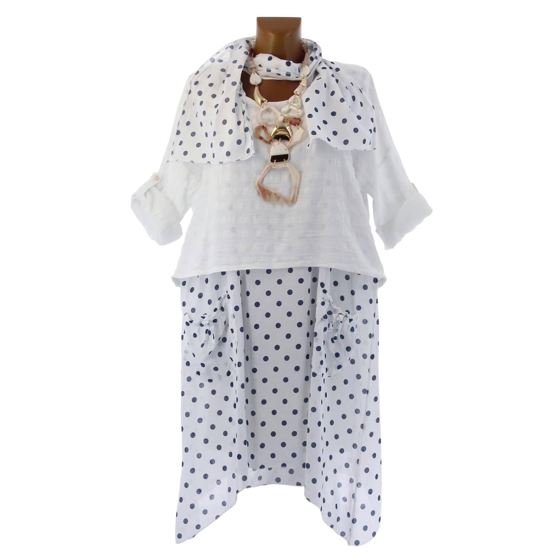 9d5160e580ef Robe + tunique + foulard asymétrique coton bohème été blanc PILOU. Loading  zoom