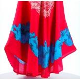 Robe été asymétrique bohème grande taille fushia AUDELIA